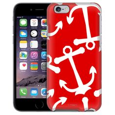 Apple iPhone 6 Anchors White on Red Case from Trek Cases Anchor Phone Cases, Anchors, Apple Iphone 6, Trek, Messages, Blue, Products, Anchor