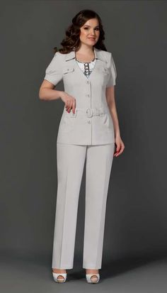 Costumes for full fashionistas Belarusian company Lissana.  Spring-Summer 2015