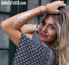 Henna Hand Piece available in the Bali Collection. Photography Caprice Ericson #BoHoTaTsUSA #flashtattoos