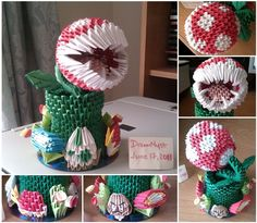Piranha Plant - 3D Origami.  I admire others abilities, even if those abilities is the talent to make insanely crazy origami