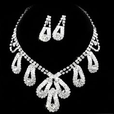 Amazing Alloy with Rhinestone Wedding Bridal Jewelry Set - (Including Necklace, Earrings) - $32.99 - Trendget.com