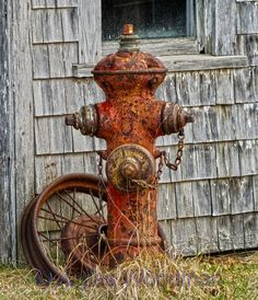 rusty fire-hydrants