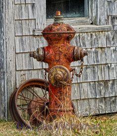 rusty fire-hydrants
