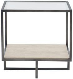 Harlow metal square end table