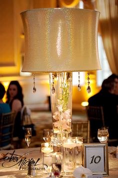 I think the lampshade wedding centerpiece is a unique idea.