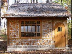 Cordwood masonry in post and beam