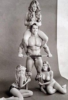 Arnold Schwarzenegger----------http://www.fitnessgeared.com/forum/ The #1 Body building fitness discussion forum on the net. FITNESSGEARED.COM