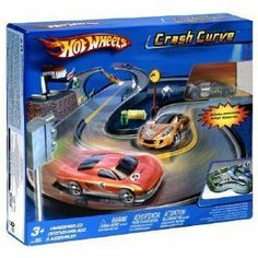 Hot Wheels: Crash Curve by Mattel. $16.29. Car Included. Road Trap. This Hot Wheels Crash Curve playset needs little assembly - you'll be ready for racing action in no time!. Spin the car around and the track, and watch out for those corners. Crash! Includes track, car, hay bail, barrel, and figure.