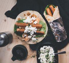 Vegetarisk korvwrap - Peas of Heaven Coleslaw, Hummus, Tacos, Mexican, Ethnic Recipes, Heaven, Food, Profile, Sky