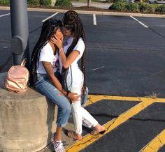 Young black girl lesbian