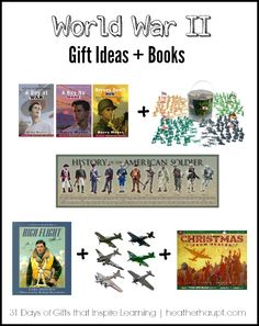 World War II themed gift ideas and books