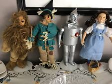 "VINTAGE Wizard of Oz Set 4 Dolls 14"" Presents Hamilton Gifts PRESENTS MGM 1987"