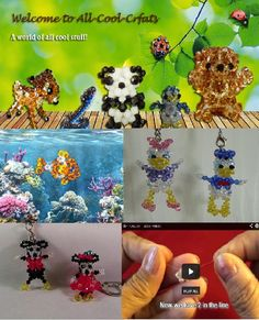 DIY Crystal Charms and 3D Figures Beading Projects