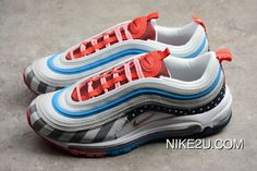 Nike Air Max 97 BW Skepta AO2113 100 Black And Red Blue What The 97 Bullet BW High 3 M Reflective Type Detail Walk The Line Seal New Year Deals