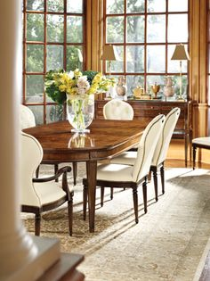 Henredon positions Collection featuring Rohan Chair and Ashbury Dining Table Showroom Details Henredon Interior Design Showroom