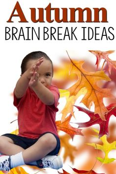 """Brain Breaks with an Autumn Theme! Such great ideas! I love don't """"fall""""! These brain breaks are perfect for the classroom or preschool gross motor time. They work great for PT OT and SLP's along with physical education!"""