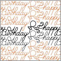 Birthday Wishes - FREE - Pantograph