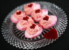 """DIY: Valentine """"Heart Beet"""" Eggs. How to make pink """"deviled eggs"""" for Valentines Day"""