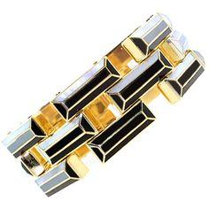 TIFFANY & CO Black Onyx Bracelet at 1stdibs ❤ liked on Polyvore
