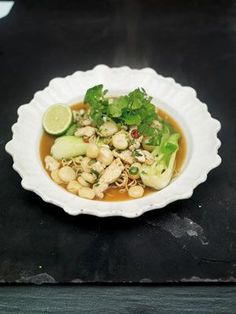 This dish makes use of a tender, juicy Asian cabbage called bok choi, which is simple to cook and really tasty. You should be able to find bok choi (also known as pak choi, Chinese white cabbage or hakusai) in your supermarket but if not, then a nice little gem lettuce or a handful or two of baby spinach would work well instead.