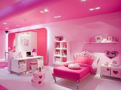 15 Cute Pink Bedroom Designs Ideas That Are Dream Of Every Girl - Home Design - lmolnar - Best Design and Decoration You Need Pink Bedroom Design, Pink Bedroom For Girls, Girl Bedroom Designs, Pink Room, Teen Girl Bedrooms, Bedroom Decor, Outdoor Bedroom, Pink Design, Hot Pink Bedrooms