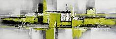 Toile panoramique abstraite verte et grise. A partir de 59 € en 30/90 cm. Huile sur toile sur châssis.  http://www.peintures-sur-toile.com/tableau-panoramique-sur-toile-xsl-244_343_413.html