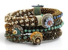ideas to use with bead crocheted bracelets?