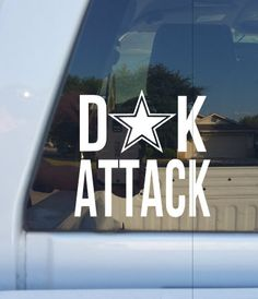 DAK Attack Decal/Go Cowboys/Dak Prescott/Dallas Cowboys by BluLoveCreations on Etsy