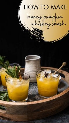 Bourbon Cocktails, Fall Cocktails, Holiday Drinks, Summer Drinks, Cocktail Drinks, Cocktail Recipes, Alcoholic Drinks, Thanksgiving Cocktails, Pumpkin Cocktail
