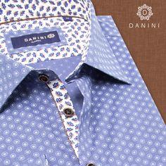 Light Blue Circles on Royal Blue Sport Shirt Textile Prints, Sports Shirts, Circles, Casual Shirts, Royal Blue, Light Blue, Menswear, How To Wear, Style