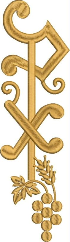 Chi Rho, Blackwork, Embroidery, Clothing, Silver, Gold, Wire, Line, Needlepoint