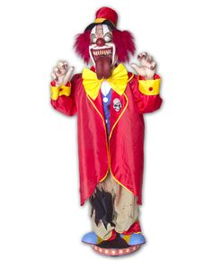Walking Clown With Tongue Animated Prop