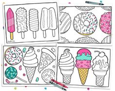 Super cute printable coloring cards and coloring pages! These make adorable instant wall art. Just download, print at home, and color (or leave them black and white)! Click through for more designs | DIY adult coloring.