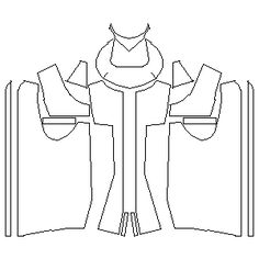 Leather vest template. This website has a ton of nice patterns for an Edward Kenway cosplay, as well as other assassins