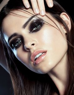 Black glossy eye shadow / Julia Kuzmenko McKim - Pinned by The Mystic's Emporium…