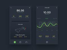 Running app concept by Shab Majeed #Design Popular #Dribbble #shots