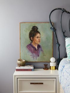 Interior designer Michelle Gage reveals how to decorate with vintage portraits and what to look for when adding to your collection.