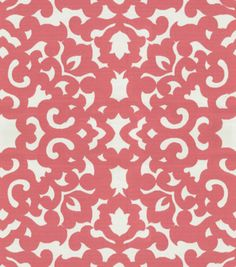 Home Decor 8''x 8'' Fabric Swatch-Upholstery Fabric-Waverly Garden Gate/Sorbet at Joann.comm $3