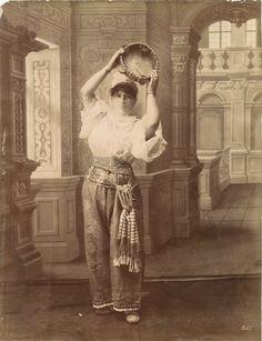 Turkish woman from Ottoman Empire. XIX century old photo