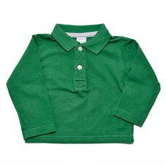 Polo Niño - 3-6 m Polo verde de manga larga de Zara, 68 cm.#polo #niño #trueque