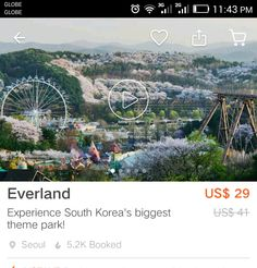 Attraction Tickets, South Korea, Coding, Park, Outdoor, Outdoors, Korea, Parks, Outdoor Games