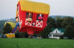 Funny...a hot air balloon barn.