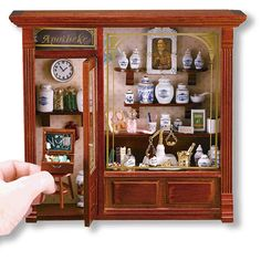Complete pharmacy shadow box in 1/12 scale miniature #ad #miniature #dollhouse