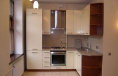 Угловая кухня для хрущевки из МДФ