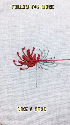 Hand Embroidery Patterns Flowers, Hand Embroidery Videos, Embroidery Stitches Tutorial, Creative Embroidery, Simple Embroidery, Sewing Stitches, Hand Embroidery Stitches, Hand Embroidery Designs, Embroidery Techniques