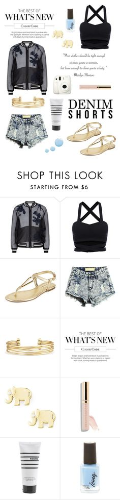 """""""Effortlessly Cool"""" by lialicious on Polyvore featuring 3.1 Phillip Lim, BCBGeneration, Stella & Dot, Fuji, Sydney Evan, Pirette, Topshop, jeanshorts, denimshorts and cutoffs"""