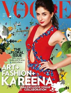 Kareena Kapoor on the cover of Vogue's floral issue | PINKVILLA
