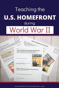 Engage your students as you get them up and moving with these US Homefront stations! Your students will analyze the US homefront during WWII and think critically about them as they move from station-to-station. Don't miss out on one of my best sellers that will surely help your students in your US History classes! #nothanotherhistoryteacher #unitedstates #history #worldwar2 #stationslessons