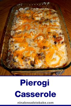 This easy to make pierogi casserole is loaded with sausage, cheese and veggies. It's a super easy dish to make and it is THAT good! Diner Recipes, Pork Recipes, Pasta Recipes, Recipies, Cooking Recipes, Ukrainian Food, Ukrainian Recipes, Easy Casserole Recipes, Casserole Dishes