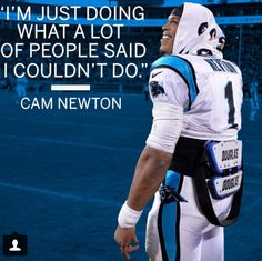 Don't listen to the haters, Cam!!!